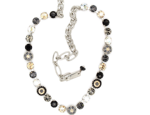 Black Orchid Collection Medium Crystal Ornate Necklace
