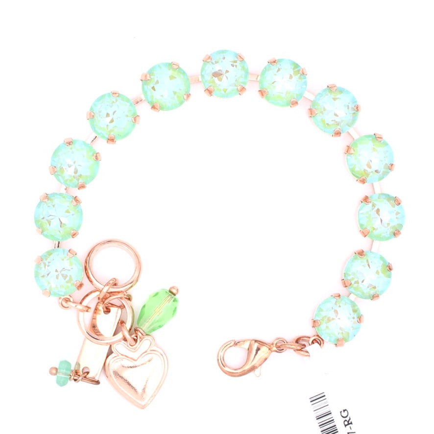 Peridot Sunkissed 10MM Lovable Crystal Bracelet in Rose Gold