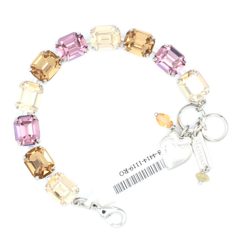 Meadow Brown Rectangular Crystal Bracelet
