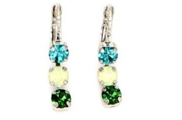 Ivy Collection 5MM Triple Crystal Earrings