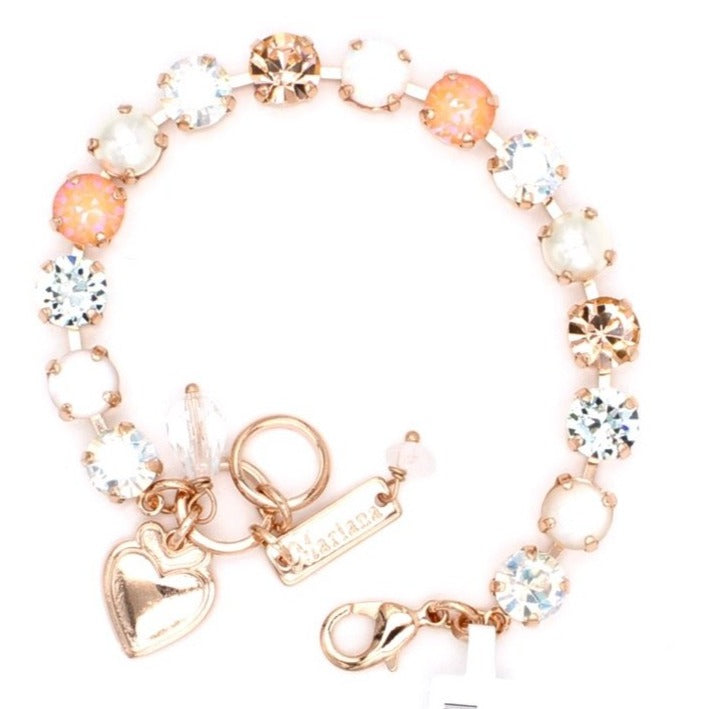 Sweet Pea Collection Must Have Crystal Bracelet in Rose Gold