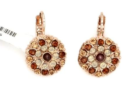 Aphrodite Collection Ornate Crystal Earrings in Rose Gold
