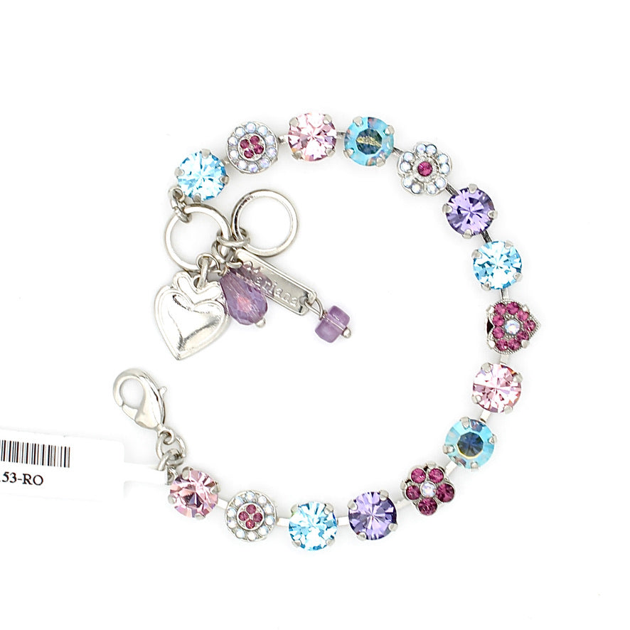 Purple Paradise Collection Crystal Heart Bracelet