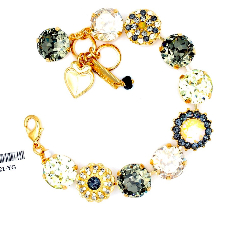 Painted Lady Collection Extra Luxurious Crystal Bracelet in Gold
