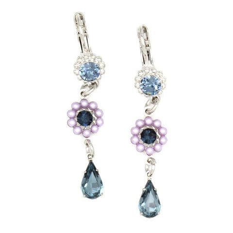 Blue Morpho Collection Flower Drop Earrings