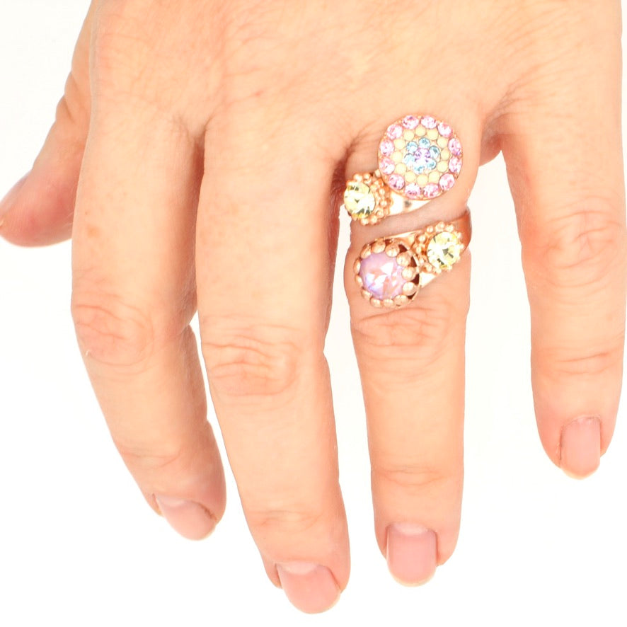 Purple Emperor Wrap Ring in Rose Gold