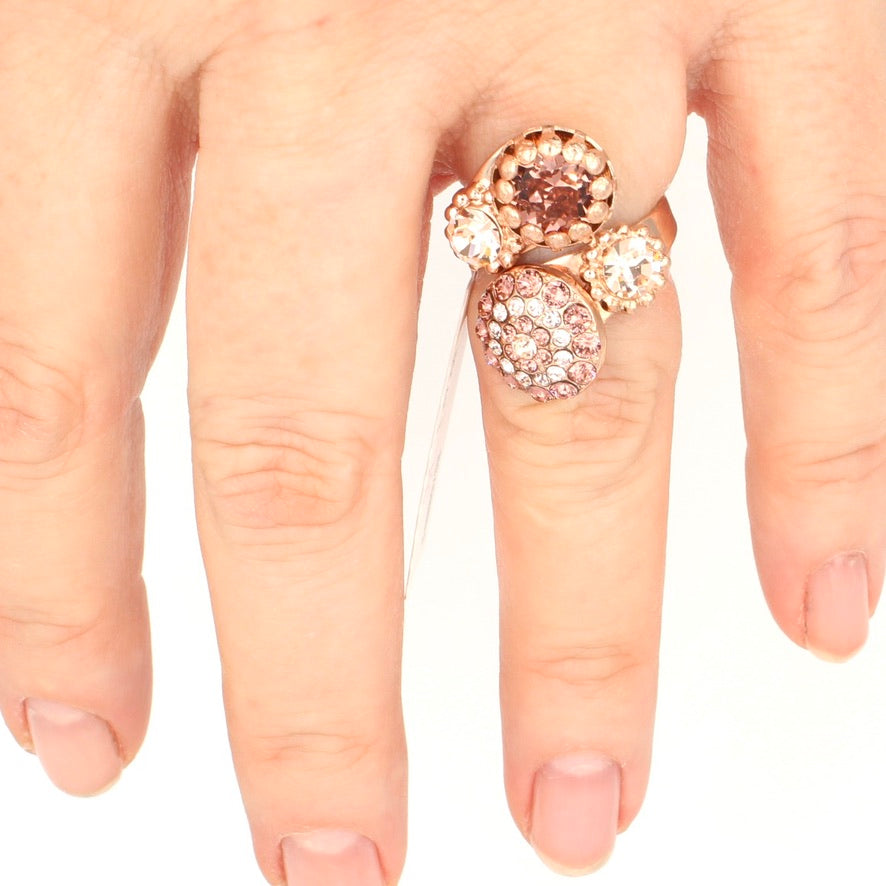 Meadow Brown Wrap Ring in Rose Gold