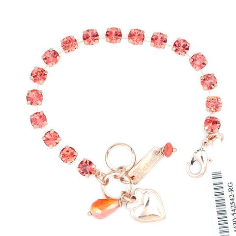 Padparadscha 7MM Must Have Crystal Bracelet in Rose Gold