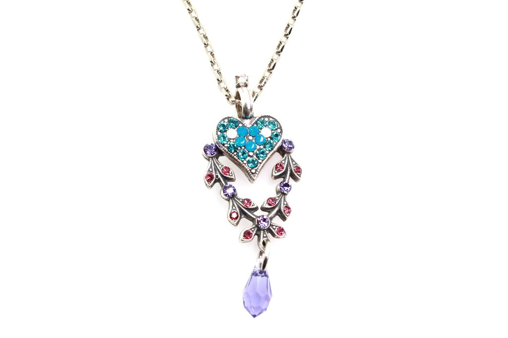 Peacock Collection Heart Pendant Necklace