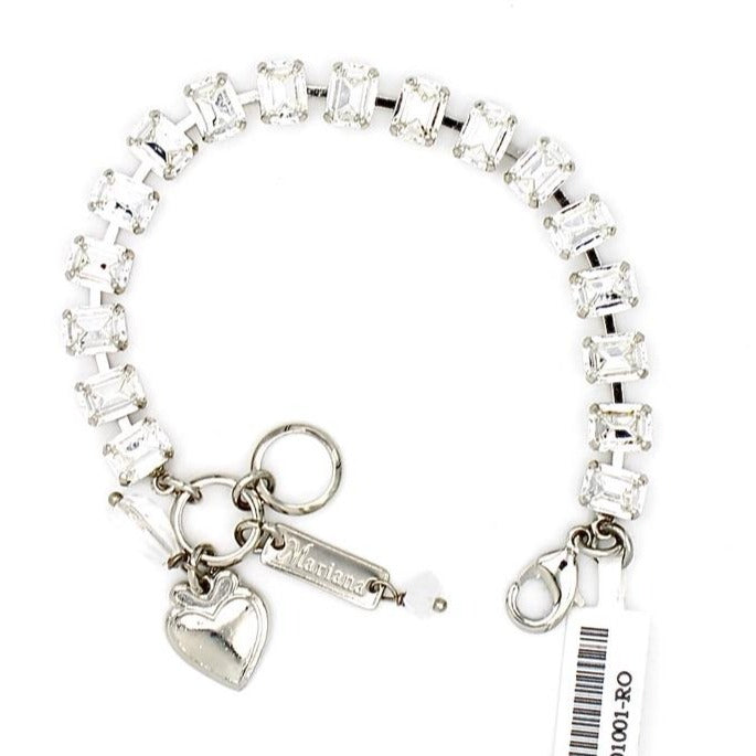 Clear Crystal 7MM Rectangular Crystal Bracelet
