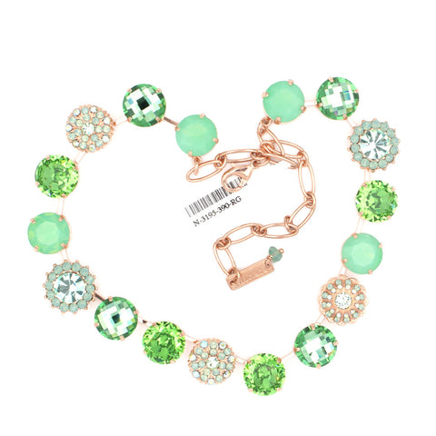 Green Ice Collection Extra Luxurious 15MM Necklace in Rose Gold