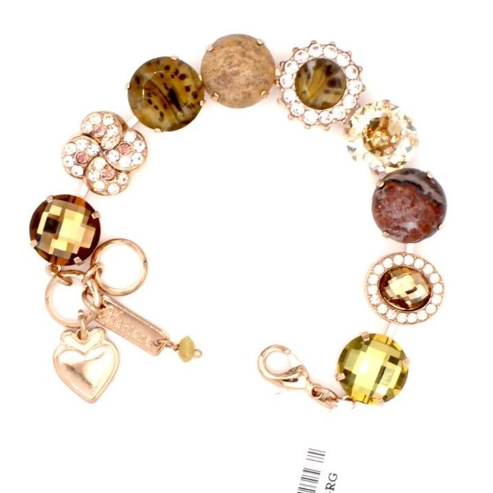 Meadow Brown Collection Extra Luxurious Crystal Bracelet in Rose Gold