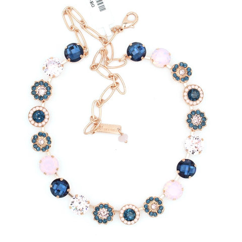 Blue Morpho Collection Lovable Crystal Necklace in Rose Gold