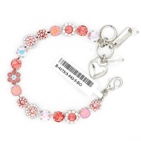 Lovers Coral Collection 7MM Crystal Flower Bracelet