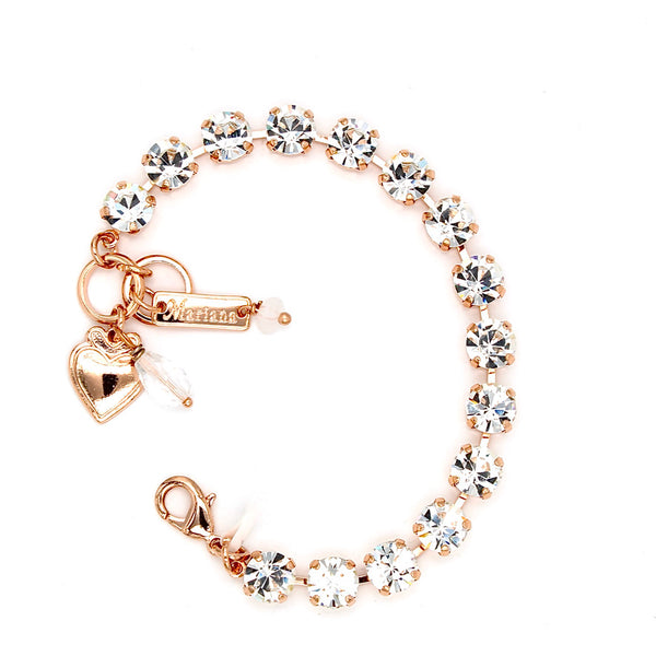 Clear Sparkly Must Have Crystal Bracelet in Rose Gold