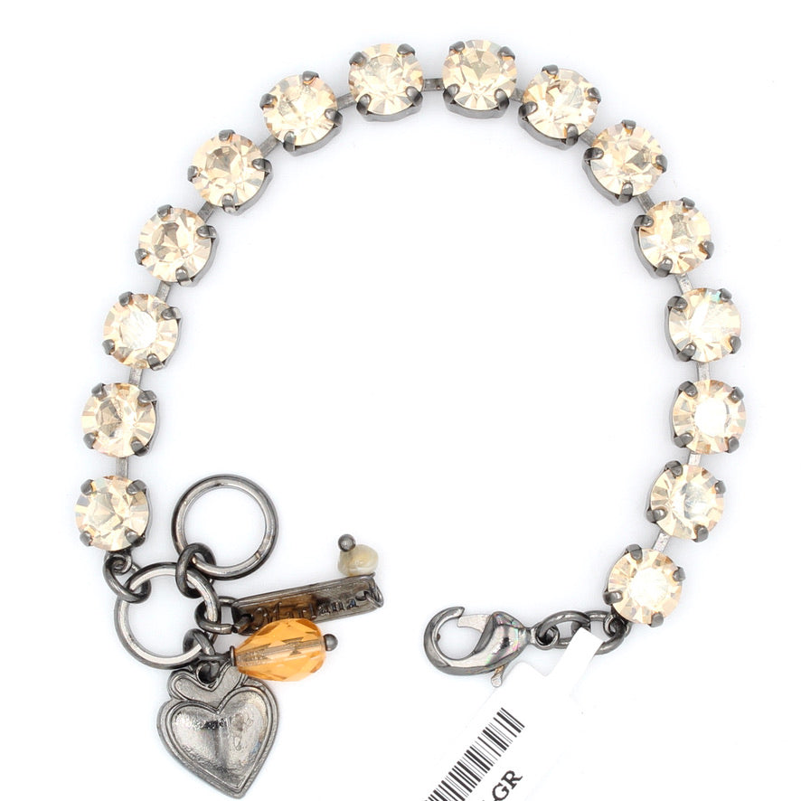 Golden Shadow Must Have Crystal Bracelet in Gray