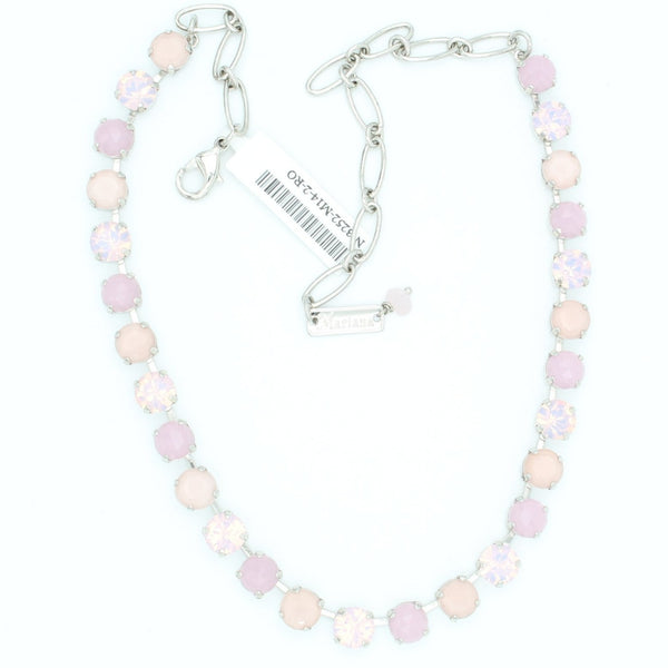 Pink Carnation 8.5MM Crystal Necklace