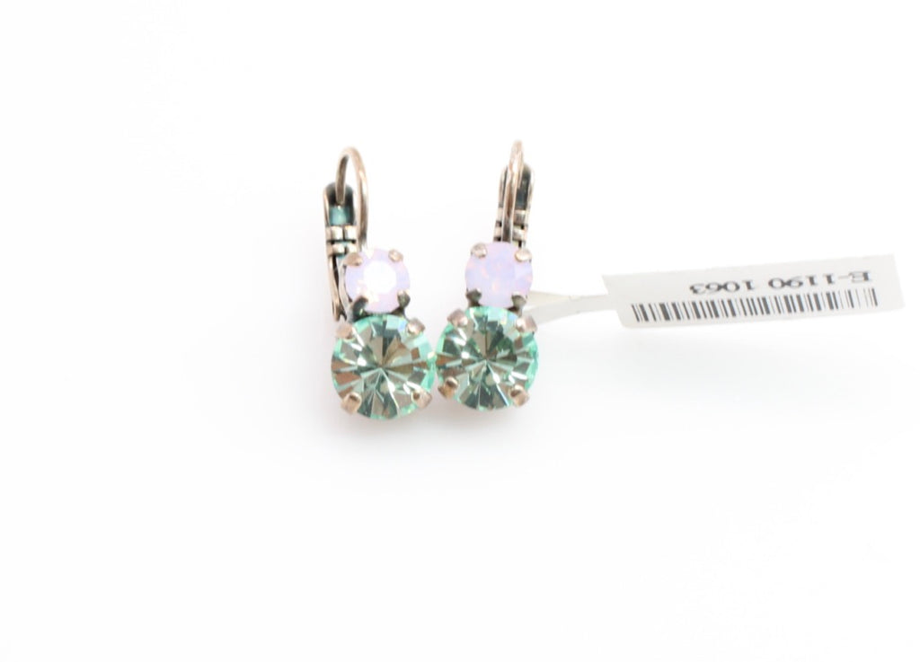 Pina Colada Collection Medium Double Crystal Earrings