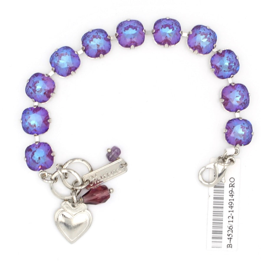 Plum Sunkissed Must Have 10MM Square Crystal Bracelet