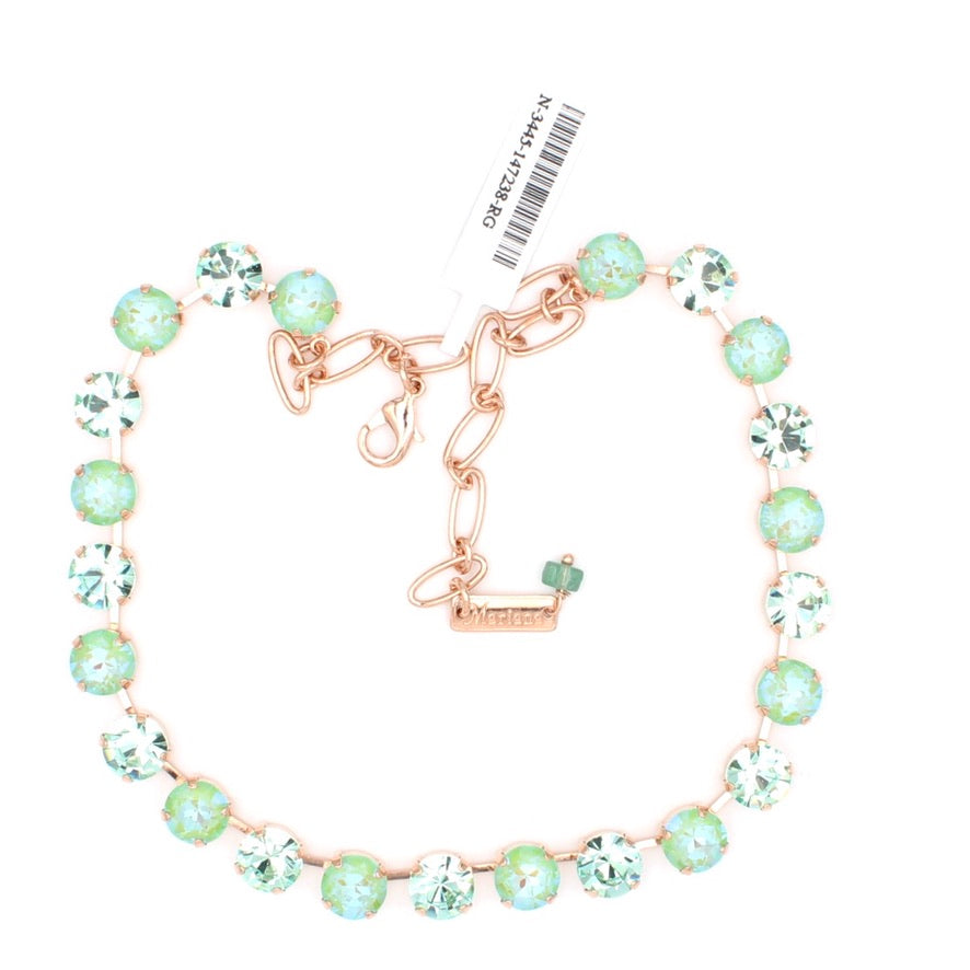 Peridot Sunkissed and Chrysolite Lovable Crystal Necklace in Rose Gold