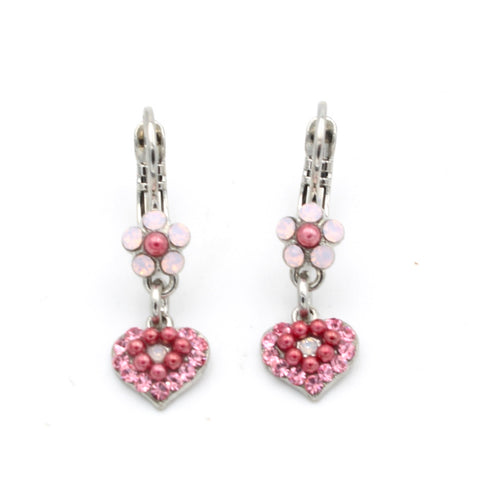 Antigua Collection Flower and Heart Earrings