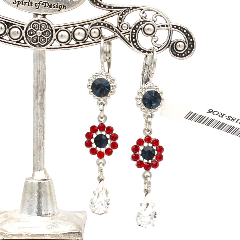 Patriot Collection Flower Drop Earrings