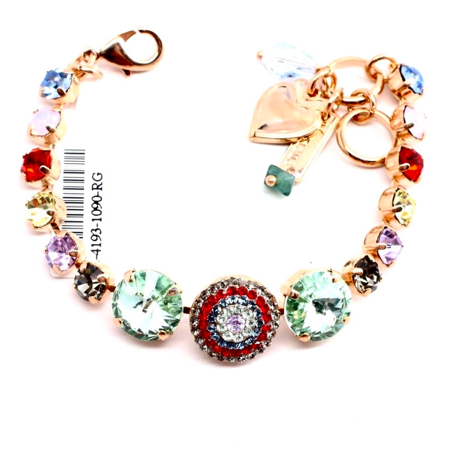 Gaea Rivoli Accent Crystal Bracelet in Rose Gold