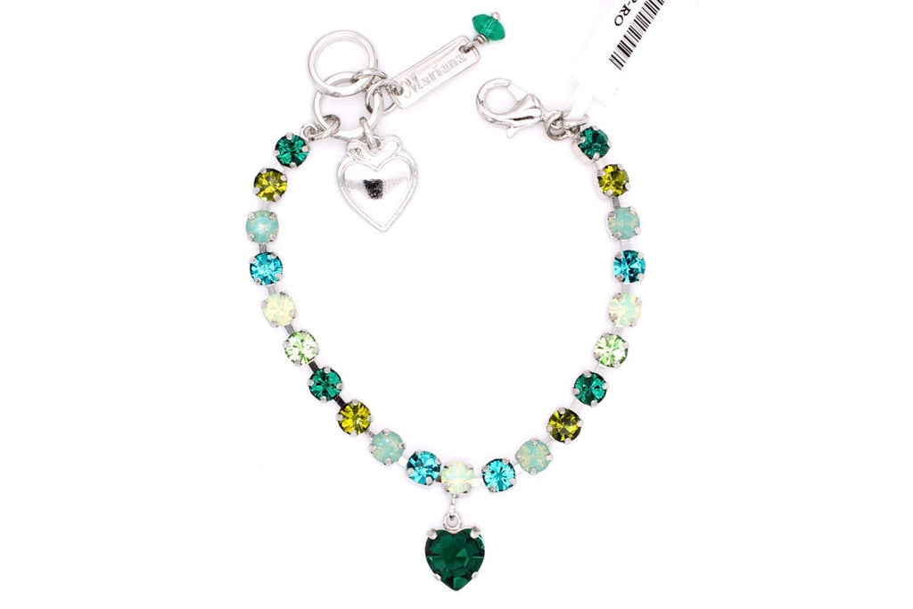 Ivy Collection Petite Bracelet with Heart Shaped Crystal Dangle