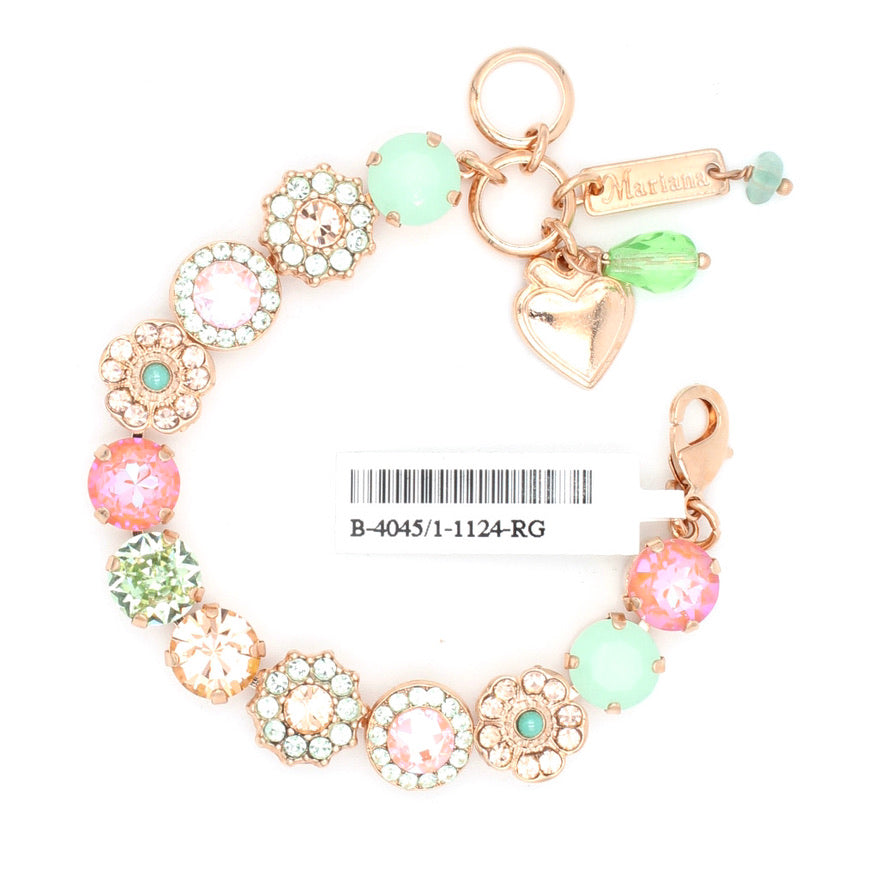 Monarch Collection Lovable Crystal Bracelet in Rose Gold