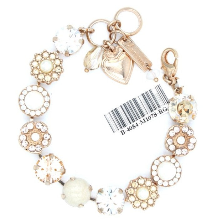 Kalahari Collection Lovable Crystal Bracelet in Rose Gold