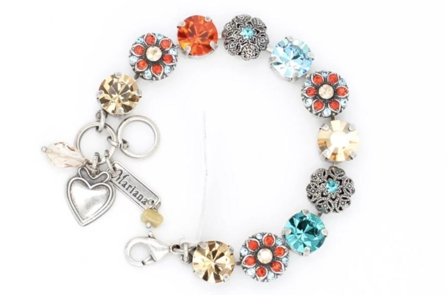 Tinsel Collection Crystal Flower Bracelet