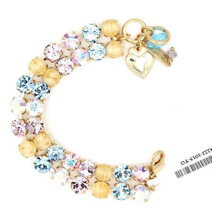 Coco Double Strand Crystal Bracelet in Yellow Gold