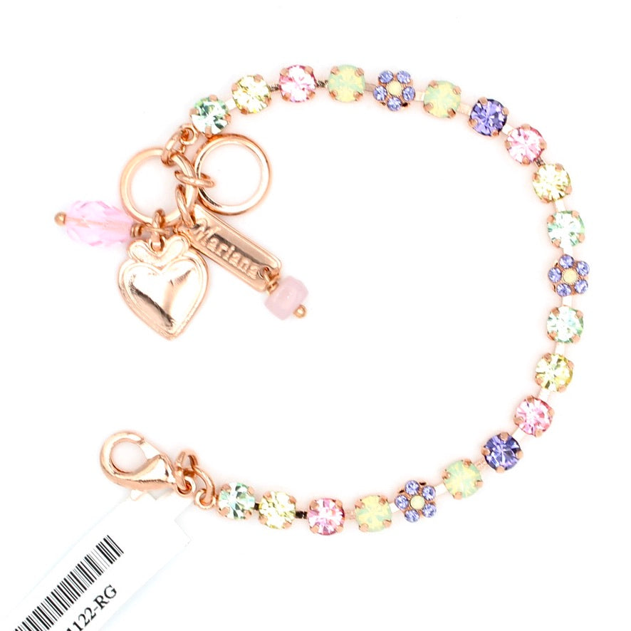 Purple Emperor Collection Petite Crystal Bracelet in Rose Gold