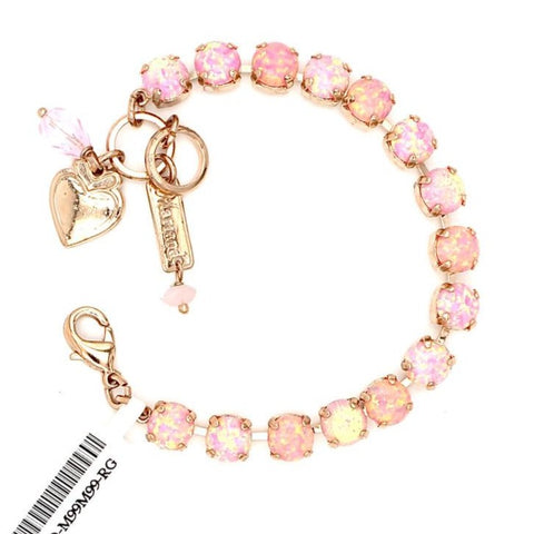 Amazing Synthetic Pink Opal Must Have Crystal Bracelet in Rose Gold