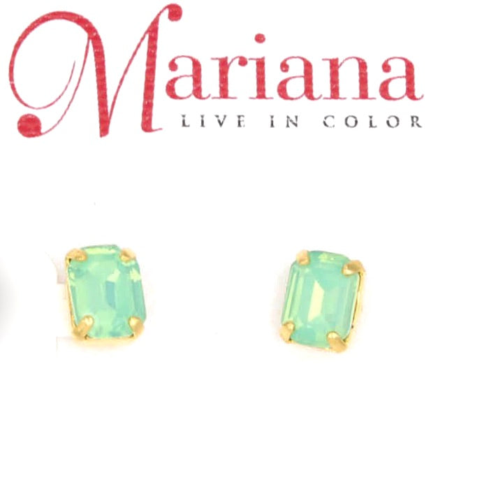 Pacific Opal Square Earrings in Yellow Gold *POST*