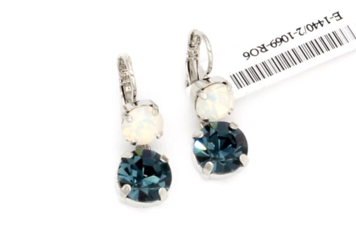 Mood Indigo Collection Crystal Dangle Earrings