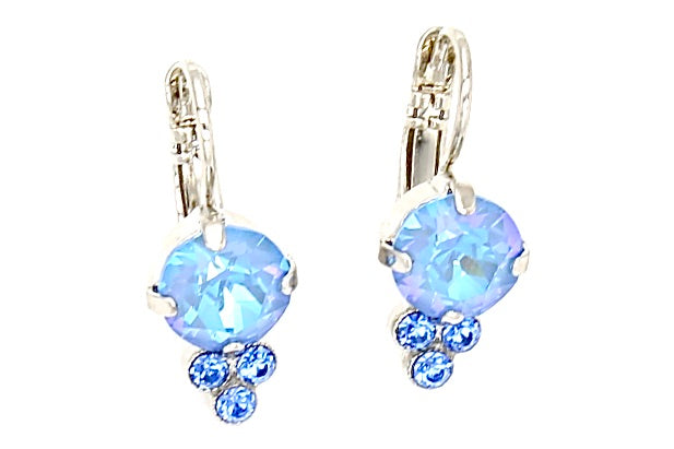 Sunkissed Ocean Must Have Earrings with Triple Crystal Accent