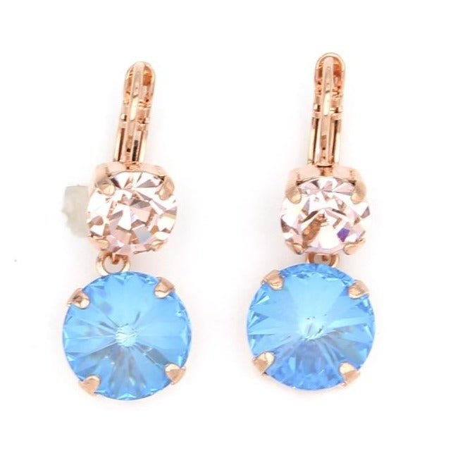 Blue Morpho Collection Rivoli Lovable Dangle Earrings in Rose Gold