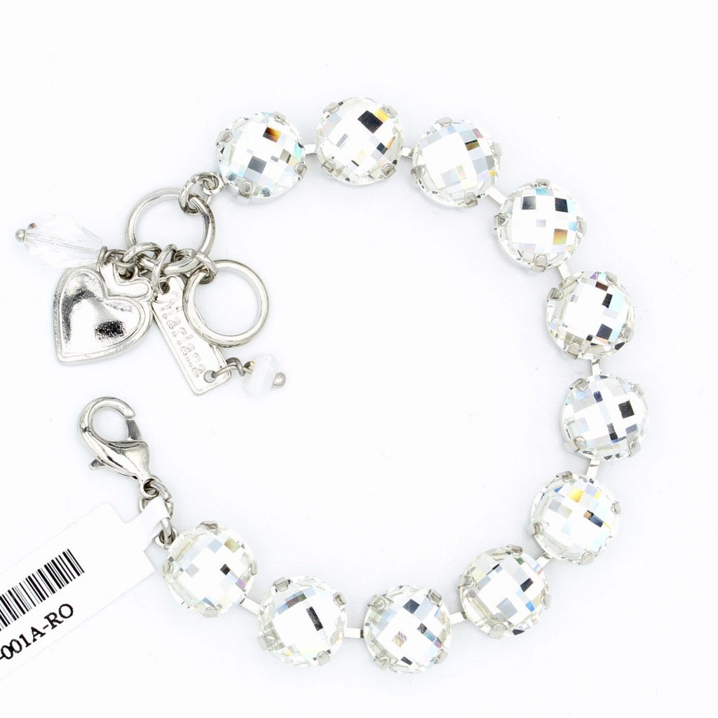 Clear Checkerboard Lovable Crystal Bracelet