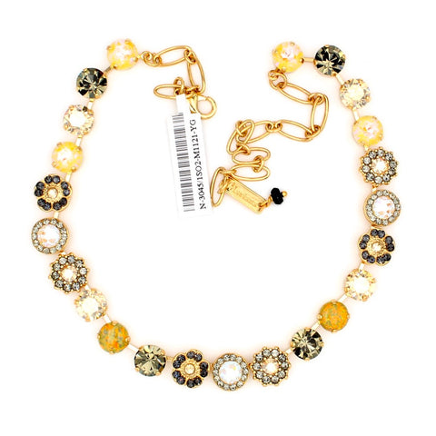 Painted Lady Collection Lovable Classic Crystal Necklace in Yellow Gold