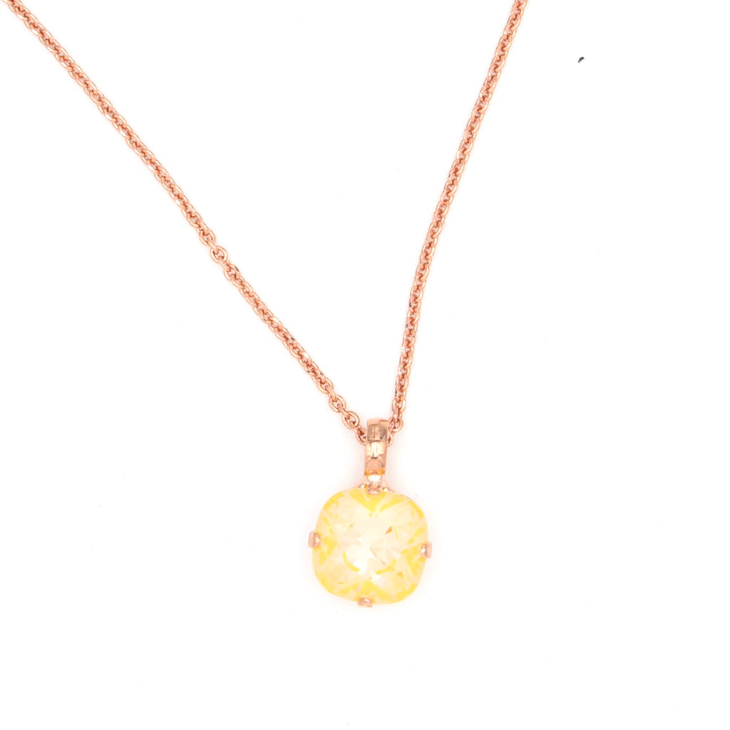 Sunkissed Sunshine 12MM Pendant Necklace in Rose Gold