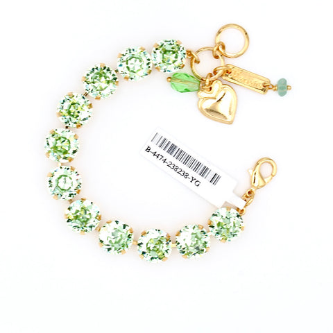 Chrysolite Large Crystal Bracelet in Gold