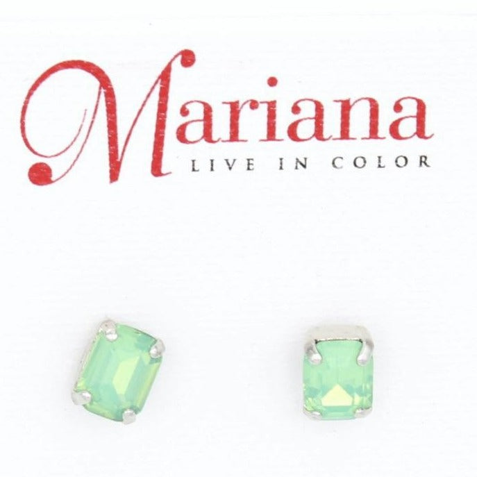 Pacific Opal Rectangular Post Earrings