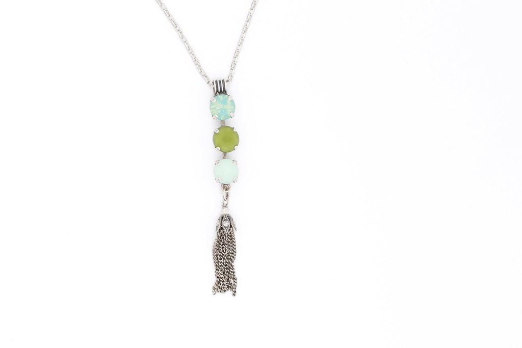 Evergreen Collection Tassel Pendant Necklace