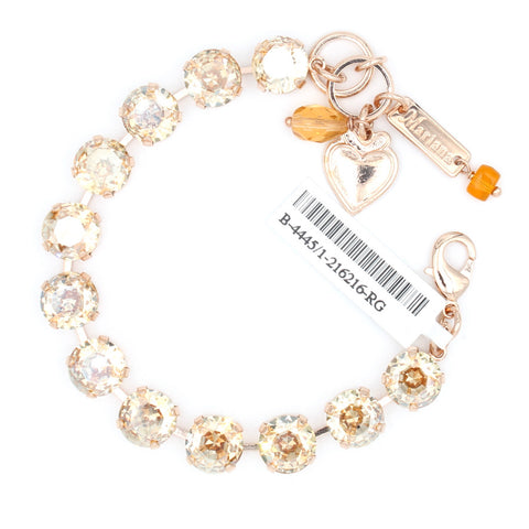 Golden Shadow Lovable Crystal Bracelet in Rose Gold