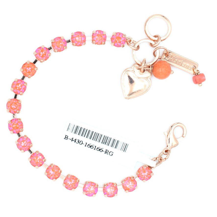 Sunset Sunkissed 7MM Crystal Bracelet in Rose Gold