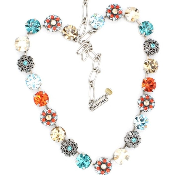 Tinsel Collection Necklace with Flower Crystals