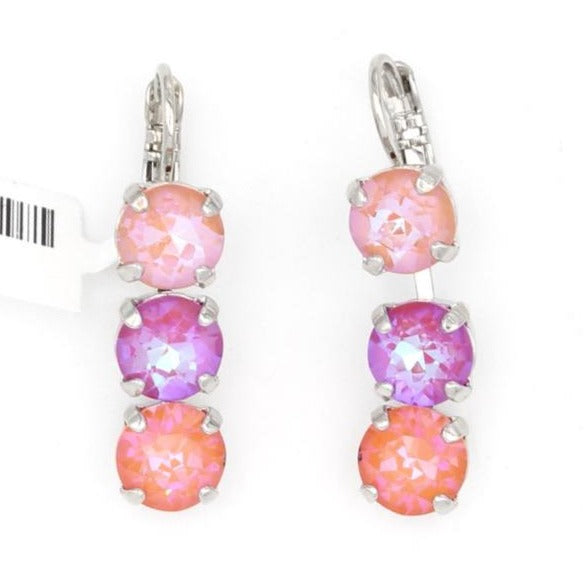 Sparkeltini Collection Triple Crystal Earrings