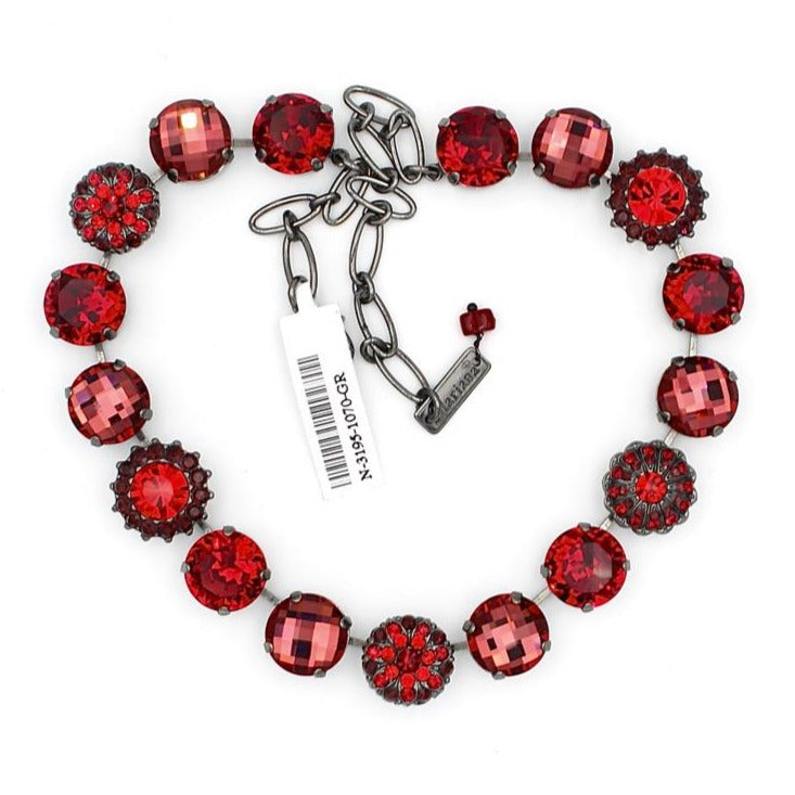 Lady in Red Gorgeous Extra Large Crystal Necklace in Gray