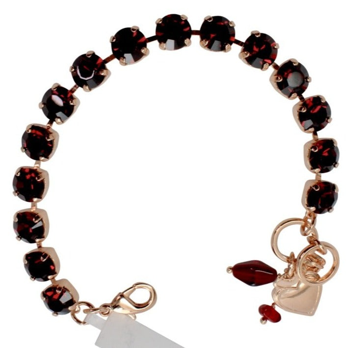 Burgundy Must Have Crystal Bracelet in Rose Gold